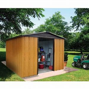 Petit Abri De Jardin : petit abri de jardin m tal aspect bois 5 97 m ep 0 30 mm ~ Premium-room.com Idées de Décoration