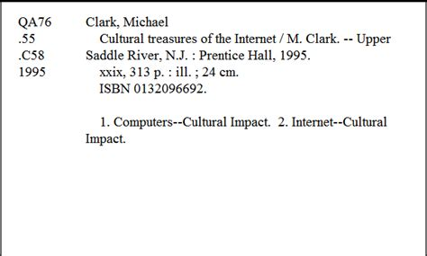 library index card citation index author