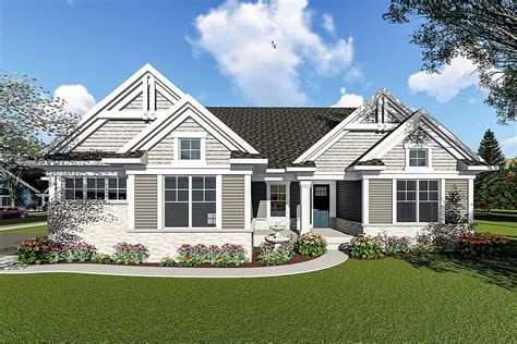 bedroom craftsman ranch house plan ah architectural designs house plans