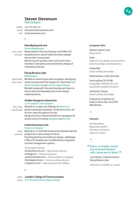 resume for graphic designers best graphic design resumes designer goals best graphic