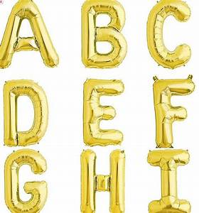 gold letter balloons by letteroom notonthehighstreetcom With letter balloons dallas