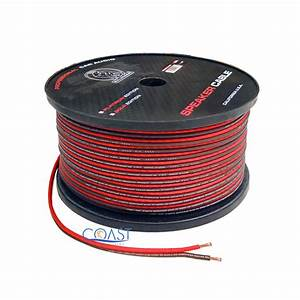 Red 300 Ft True 14 Gauge Awg Car Home Audio Speaker Wire