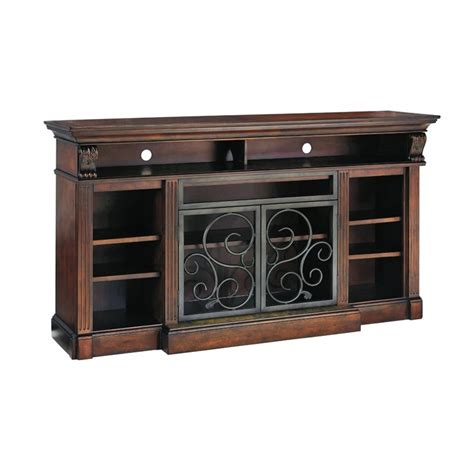 rustic l shades alymere 72 quot tv stand in rustic brown w669 88