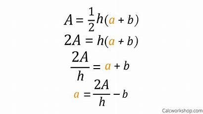 Equations Solving Literal Examples Formula Formulas Variable