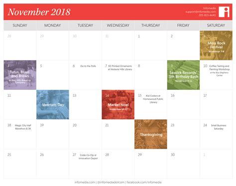 birmingham november calendar