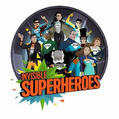 Superheroes Invisible Ice