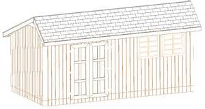 10x12 saltbox storage shed 26 barn plans build your own ebay