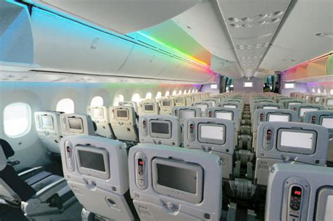 boeing  dreamliner interior modern airliners