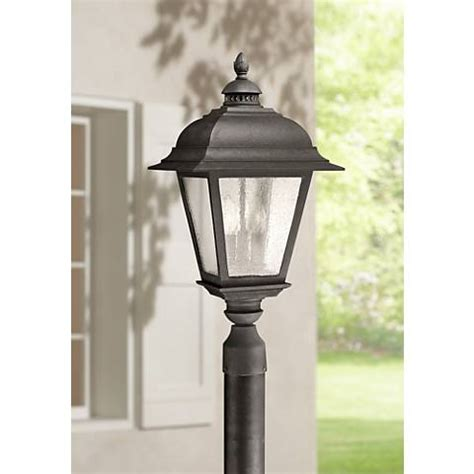 fallbrook 9 quot h black dusk to dawn motion sensor outdoor