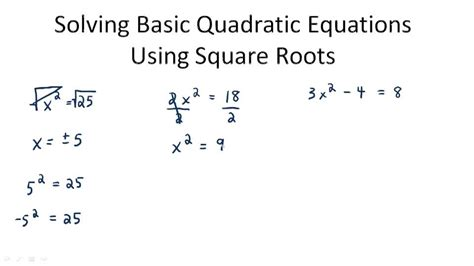 Use Square Roots To Solve Quadratic Equations  Ck12 Foundation
