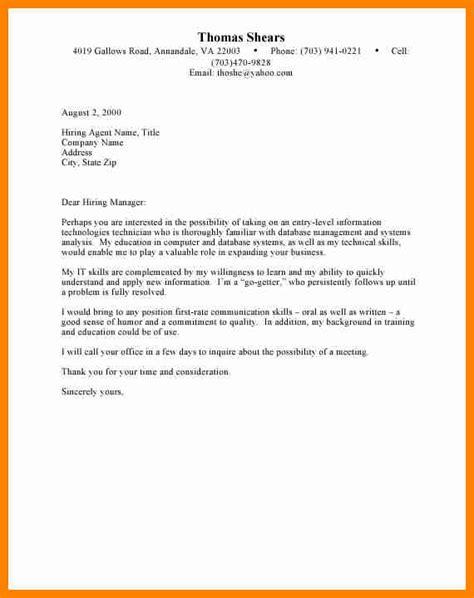 cover letter  undergraduate nursing student