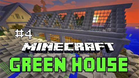 minecraft tutorial   build  greenhouse farm house building project part  youtube