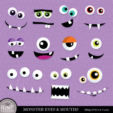 cute eyes  mouths clipart    cliparts