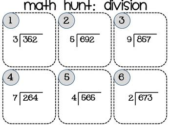 Division Hunt 3 Digitdividends By Miss R  Teachers Pay Teachers