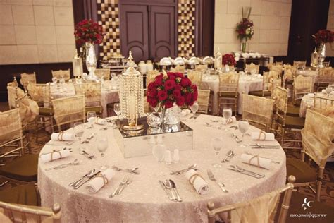 Red And White And Gold Wedding Theme