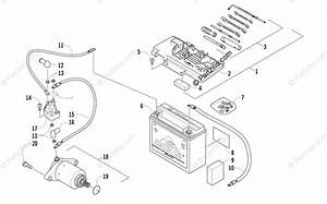 Arctic Cat Atv 2012 Oem Parts Diagram For Battery And