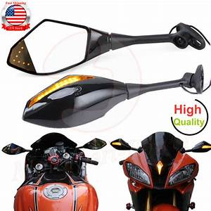 Motorcycle Led Turn Signal Rear View Mirror For Honda