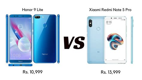 xiaomi redmi note 5 pro vs honor 9 lite