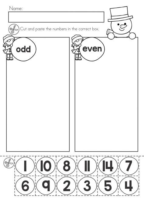 odd number worksheets  activity