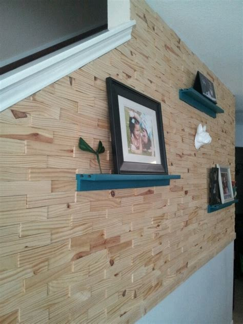 wood shim wall diy home accessories recycled house