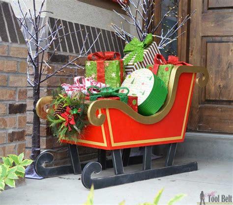 diy santa sleigh diy bloggers  follow christmas yard