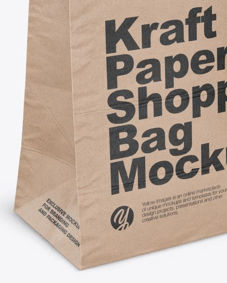 Ready to use in your projects, app and showcases. Download Kraft Paper Bag Label Mockup Half Side View ...