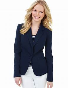 Navy Suit Jacket Womens Dress Yy