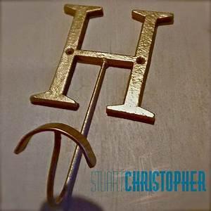 gold metal h letter coat or towel hook With letter towel hooks