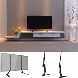 Table Tv But : universal table top pedestal tv stand monitor riser fits 17 55 inch lcd led tvs 8438669389471 ebay ~ Teatrodelosmanantiales.com Idées de Décoration