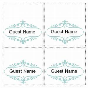 sample place card template 6 free documents download in With free place card templates 6 per page