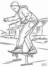 Skateboard Coloring Pages Drawings Drawing Printable Skateboarder Park Balancing Skate Colouring Skateboarding Colorings Sketch Getdrawings Paper Template 81kb 1500px 1060 sketch template