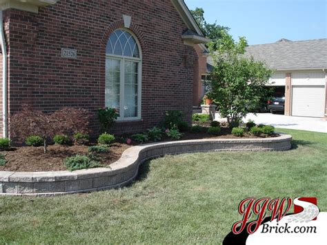 brick wall front yard front yard landscaping design photos traditional landscape detroit by jjw brick com