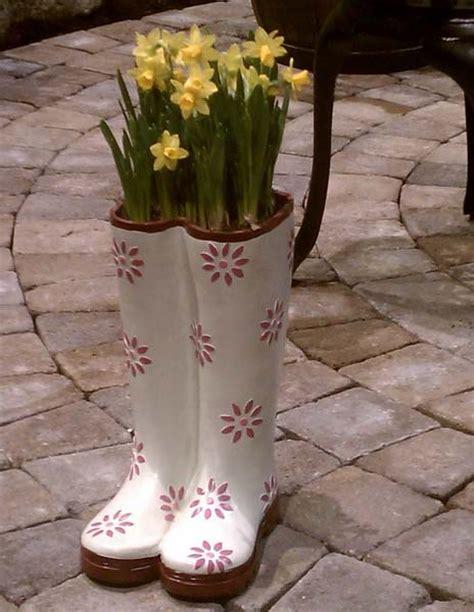 plants  flowers   shoes  boots  creative