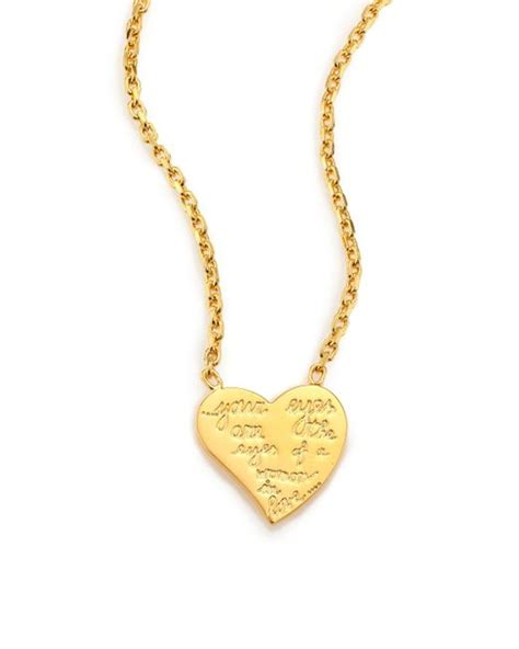 Valentino L'amour Heart Pendant Necklace In Gold Lyst