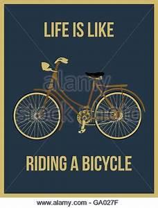 Das Leben Ist Wie Ein Fahrrad : typografie das leben ist wie fahrradfahren das gleichgewicht zu halten was das sie in ~ Orissabook.com Haus und Dekorationen