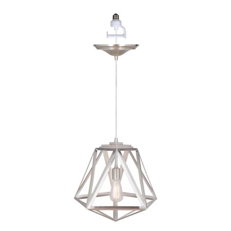 instant pendant light worth home products instant pendant series 1 light brushed