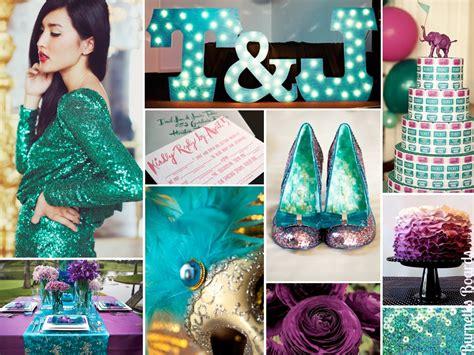 Turquoise And Purple Wedding