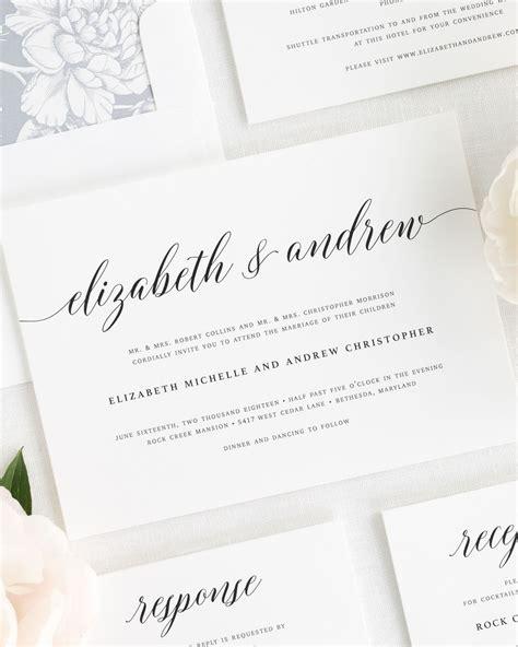 Elegant Romance Wedding Invitations Wedding Invitations