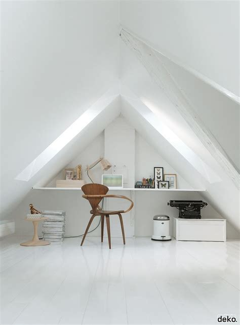 bright attic spaces   office  studio