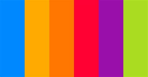 One More Rainbow Color Scheme » Blue » SchemeColor.com