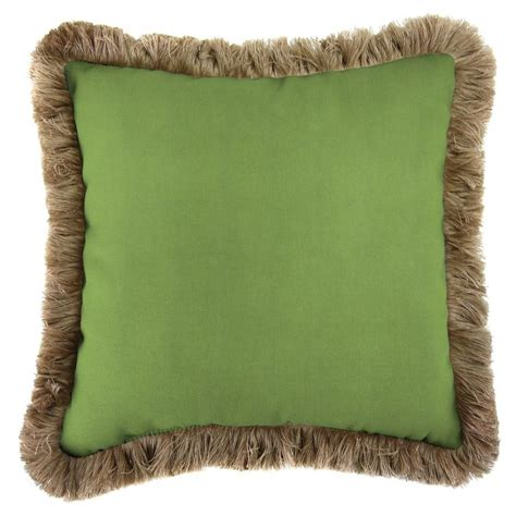 pillows with fringe jordan manufacturing sunbrella canvas gingko square outdoor throw pillow with heather beige