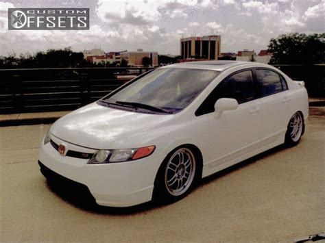 Wheel Offset 2007 Honda Civic Tucked Dropped 3 Custom Rims