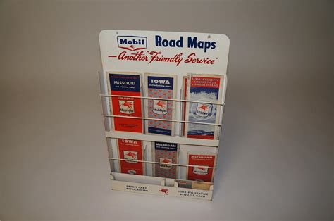 terrific late  mobil oil service station map rack comple