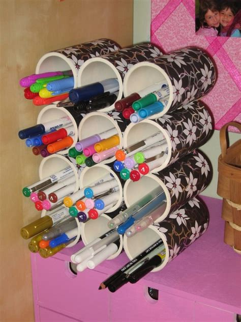 genius tricks  organize  home  leftover pvc