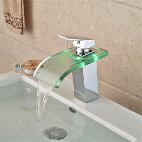 changing kitchen sink faucet luxury led three color changing basin sink faucet