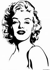 Coloring Monroe Marilyn Celebrity Pages Printable Prints sketch template