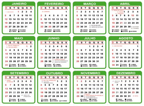 grade calendario varios modelos baixar png