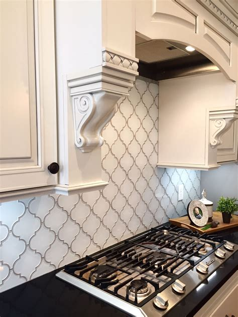Glass Mosaic Tile Kitchen Backsplash by Snow White Arabesque Glass Mosaic Tiles Kitchen