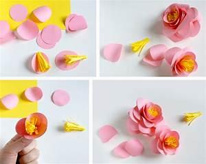fleurs papier With faire une maison en 3d 6 origami facile 100 animaux fleurs en papier et deco maison