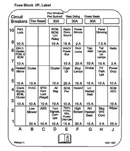 03 Buick Century Fuse Box Location by 2003 Buick Regal Fuse Box Diagram Solved Fixya